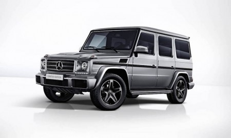 Mercedes-Benz G 500 Limited Edition, 2017; designo platin magno; Polster designo Leder Nappa Schwarz;Kraftstoffverbrauch kombiniert: 12,3 l/100 km; CO2-Emissionen kombiniert: 289 g/km*Mercedes-Benz G 500 Limited Edition, 2017; designo platinum magno; upholstery in black designo nappa leather;Combined fuel consumption: 12.3 l/100 km; combined CO2 emissions: 289 g/km*