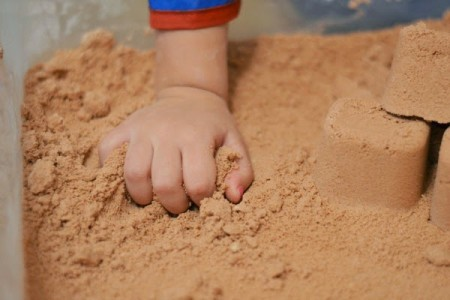 Sand for concrete brick manufacturing