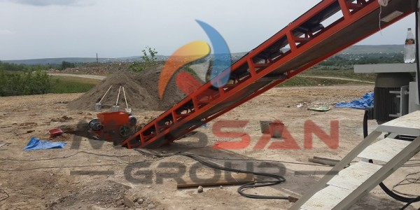 convey band for brick machine
