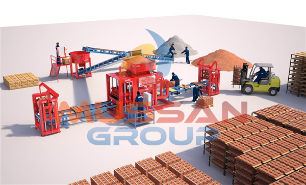 Half - Automatic brick machine
