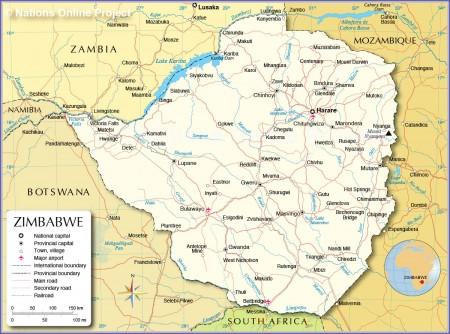 Zimbabwe-political-map